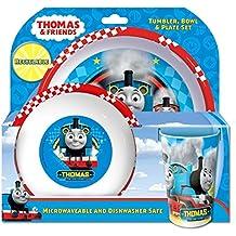 Thomas & Friends Racing Becher, Schale und Teller-Set, Blau, Set von 3