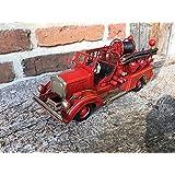Antikas - bomberos coche - camión de bomberos coleccionista - coche antiguo - decoración mesa - coche antiguo de metal - brigada de bomberos