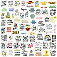 90PCS Inspirational Quote Stickers for Water Bottle, Waterproof Vinyl Motivational Stickers, Suitable for Stud