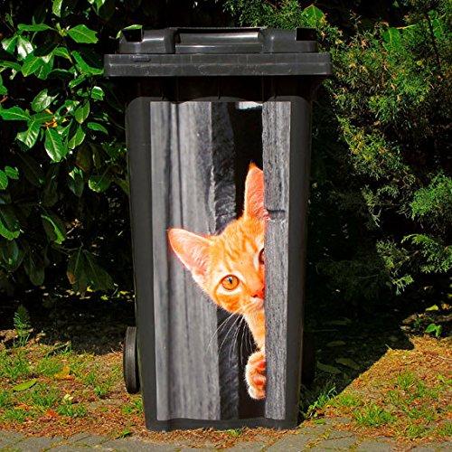 *Gärtner Pötschke Mülltonnen-Aufkleber Katze*