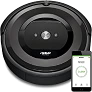 iRobot Roomba e5158 WiFi connected Robot Vacuum with Power-Lifting  Suction Dual Multi- Surface Rubber Brushes - Ideal for P