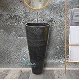 Vasque sur pied en marbre noir, totem - Tigo