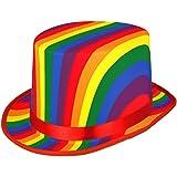 Fancy Dress Rainbow Topper Top Hat Gay Pride Accessory