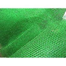 Verde metálico de malla neto Tela -150 cm ancho £ 4 ...