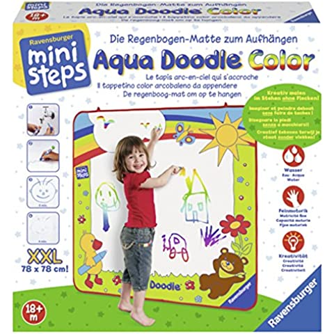Ravensburger Mini Steps - Aqua Doodle Color, pizarra mágica (00.004.493) (versión en francés)