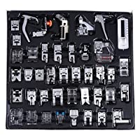 Professional Sewing Machine Presser Feet Set,Multifunction Domestic Walking Foot Presser Foot Space Parts Accessories for Brother, Singer