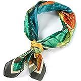 Sciarpe Seta Leggero Elegante 100% Seta Sciarpa in Raso Quadrato per Donna Regalo, 53 * 53 CM