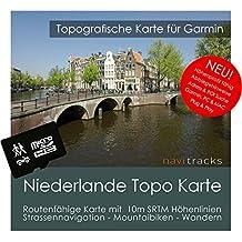 Países Bajos Garmin Tarjeta Topo 4GB MicroSD. Mapa Topográfico de GPS Tiempo Libre para Bicicleta Senderismo Excursiones Senderismo Geocaching & Outdoor. Dispositivos de Navegación, PC & Mac