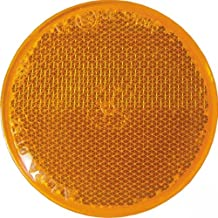Catadióptrico redondo naranja d.60 adhesivo