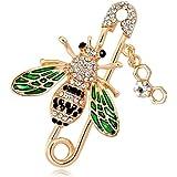 Zonfer Pins spilla ape insetto sicurezza Pins collare per le signore Abbigliamento Decoration