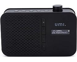 Amazon Brand - Umi Portable DAB/FM Radio with LCD Display Bluetooth, 3.5mm Headphone Jack, Dual Alarm, DAB/FM Telecopic Anten