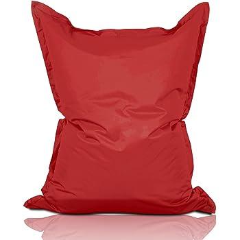 lumaland luxury riesensitzsack xxl sitzsack 380l f llung 140 x 180 cm indoor outdoor rot amazon. Black Bedroom Furniture Sets. Home Design Ideas