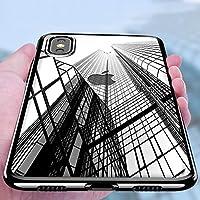 iPhone X Custodia,Samione Caso iPhone X TPU Custodia Silicone Ultra Sottile Anti-Graffio Bumper Case Invisibile Morbida Copertura Protettiva Case Cover per iPhone X (Nero)