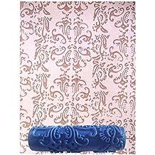 Generico - 7 Pollici Rullo Da Pittura Crea Effetto Rilievo Senza Manico Per Decorazioni Pareti Casa Motivo #6