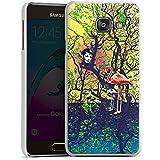 Samsung Galaxy A3 (2016) Housse Étui Protection Coque Flamand rose Forêt Magie