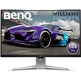 """BenQ EX3203R - Monitor Curvo Gaming de 31.5"""" (QHD 2K, 144 Hz, HDR, FreeSync 2, Sensor B.I, HDMI, Display Port, USB-C) Color N"""