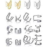 8 Pares Mariposa Pendientes Cartilago Oreja Sin Agujero Pendientes Oreja Sin Agujero Clip Pendientes Falsos Pendientes para M