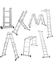 EQUAL Foldable Multipurpose Aluminium Super Ladder for Home and Industrial Purpose (12 Feet)