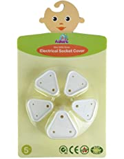 Adore 5 Pieces Electrical Socket Covers for Child Safety (White)