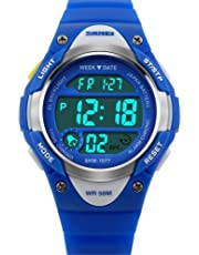 Skmei Kids LED Backlight Waterproof Digital Sports Casual Watch for Boys and Girls + Assured Gift