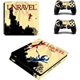 Unravel Skin Sticker for Sony Playstation 4 (Slim) and Remote Controllers