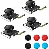 Thlevel 4-pack utbytesanalog 3D-knapp tumsticka joystick rocker för Nintendo Switch NS Joy-Con styrenhet Joypad (4-pack)