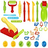 Simuer Deeg Tools set, 30 stks/set Play Deeg Clay Cutters Modellering Tools, DIY Plasticine Clay Extruders Creation Kit met M