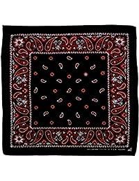 Negro Rojo Blanco Paisley costura pañuelo Bandana Pañuelo