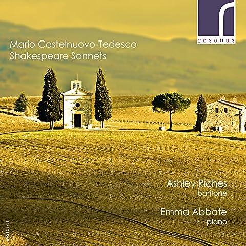 Mario Castelnuovo-Tedesco: Shakespeare Sonnets