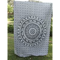 Elephant Throw Tapestry, Indian Mandala Wall Hanging, Bohemian Decor, Dorm