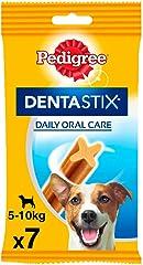 Pedigree Dentastix de Uso Diario para La Limpieza Dental de Perros Pequeños, 7 uds