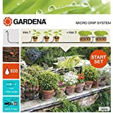 Gardena 1300426 Kit d'irrigation Micro-Drip system pour 15 pots avec programmateur, Orange