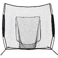 7x 7de béisbol y softball práctica red topind Hitting bateo formación Net w/lazo de cuadro y bolsa de transporte, ideal para todos los niveles de Especialización, Black net