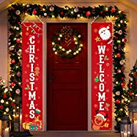 """KMUYSL Christmas Decorations - Outdoor Xmas Decoration Banner -Extra Large Size 71""""x12"""" Hanging Merry Christmas Door Porch Sign for Indoor Outside Yard Garden Party Wall Decor"""