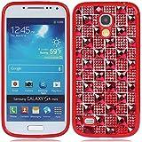 für Samsung Galaxy S4 SIV S IV Mini(kann nicht passen S4) I9190 bling strass kristall diamant Plaid hülle schale abdeckung case cover_rot