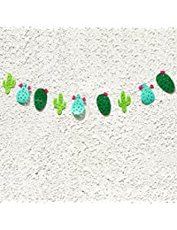 LUOEM Non-Woven Fabric Cactus Party Banner Garland Banner For Tropical Party Birthday Party Festival Luau Hawaii...