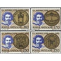 sellos para coleccionistas: ciudad del Vaticano 771-774 (completa.edición) matasellado 1980 Gian Lorenzo Bernini