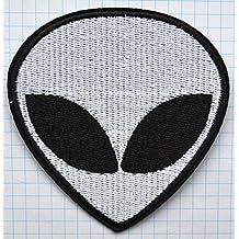 Cabeza de alien ufo bordado iron on patch
