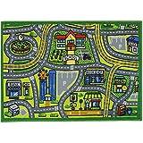 JVL 01-740MA - Alfombra infantil, 80 x 110 cm, color verde