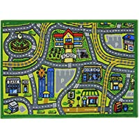 JVL Children's Road Map Town Play Mat, Polyamide, 80 x 110 cm