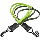 Master Lock 3244EURDAT platte rubberen spankabel met haak [70 cm lange meervoudige kabel] [dubbele invershaken] – ideaal voor