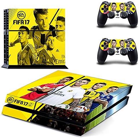 Playstation 4 + 2 Controller Aufkleber Schutzfolie Set - Fifa 17 (1) /PS4