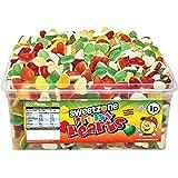 Sweetzone JELLY SWEETS CANDY 100% HALAL Fruity Love Hearts FULL TUB 600 Pcs, Mixed-Fruit, 960 gram