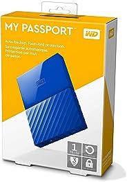 WD 1TB My Passport Portable External Hard Drive USB 3.0 - Blue, WDBYNN0010BBL