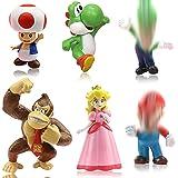 ZSWQ 6pcs / Set Toys - Figuras de y Luigi Figuras de acción de Yoshi y Bros Figuras de Juguete de PVC