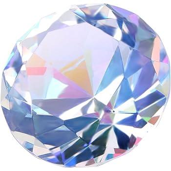 Glass Crystal Diamond Shape Paperweights Facet Jewel Wedding Decor Gift 30mm GV