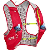 CamelBak Nano Vest 17 oz Quick Stow Flask Hydration Pack, Small, Crimson Red/Lime Punch
