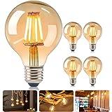 DASIAUTOEM Ampoule LED E27, Ampoule E27 Vintage Globe Ampoule Décorative Rétro Ampoule Edison LED G80 Antique 4W Blanc Chaud