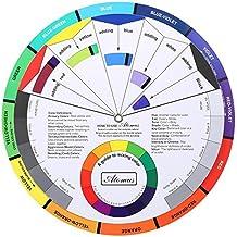 Anself Ruota dei colori per pigmenti per tatuaggi, riferimento per mischiare i colori, per tatuaggi e per trucco permanente sopracciglia, labbra, occhi