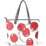 DEZIRO - Bolso de mano con diseño de cerezas rojas para el día a día.